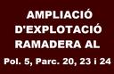 Ampliació d'explotació ramadera al Pol. 5, Parc. 20, 23 i 24