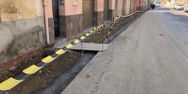 Obres del tram del carrer Progrés