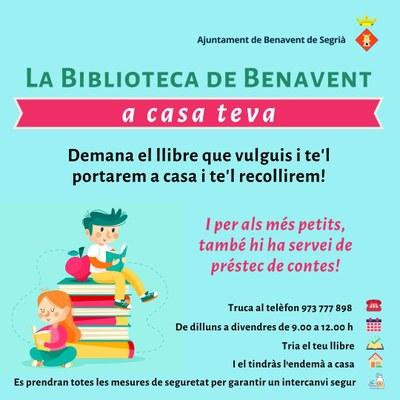 Cartell 'La Biblioteca de Benavent a casa'.jpg