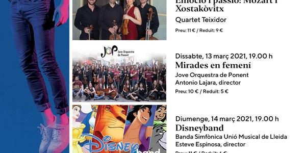 Concerts del mes de març a l'Auditori Enric Granados de Lleida