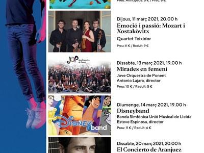 Concerts a l'Auditori Enric Granados de Lleida amb preus reduïts per als veïns de Benavent