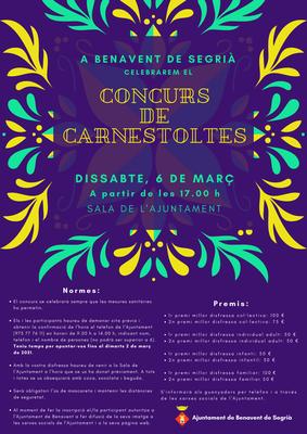 Concurs de Carnestoltes amb premis de fins a 100 euros