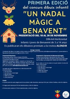 En marxa el primer concurs de dibuix 'Un Nadal màgic a Benavent'