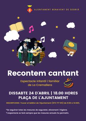 Espectacle 'Recontem cantant' de La Cremallera a Benavent