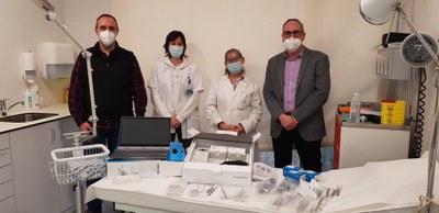 L'Ajuntament equipa el consultori mèdic amb més material i un nou aparell per fer electrocardiogrames