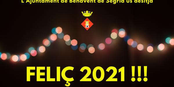 L'Ajuntament de Benavent de Segrià us desitja un feliç any nou!!