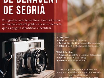 L'Ajuntament organitza el 6è Concurs de Fotografia de Benavent de Segrià