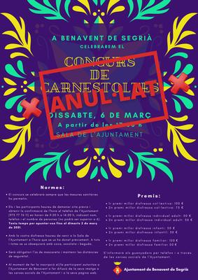 S'anul·la el concurs de Carnestoltes del 6 de març